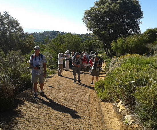 Our group today making our way up the path slowly