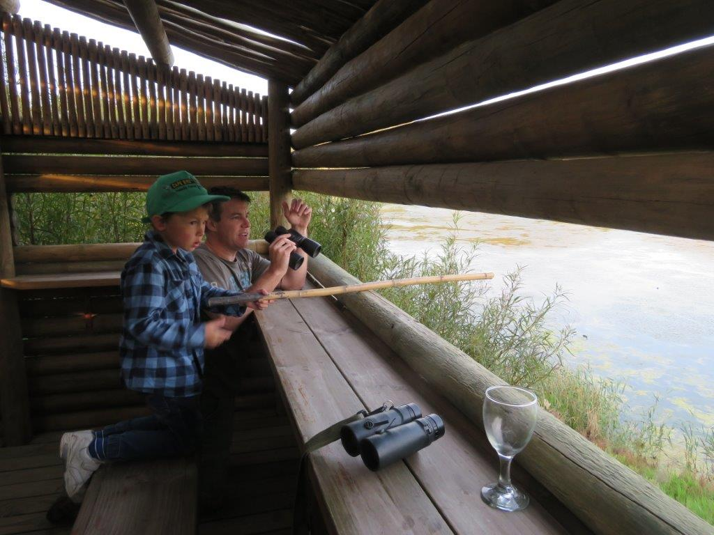 At the bird hide - Vrolijkheid Nature Reserve