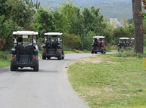 Pearl Valley Golf Estate - setting out. Photograph by Priscilla Beeton