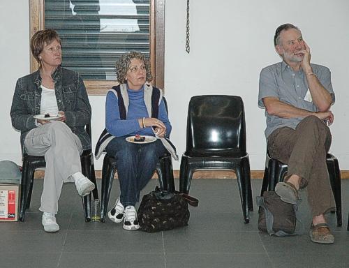 Tygerberg Bird Club repreentatives and retired environmental journalist John Yeld.
