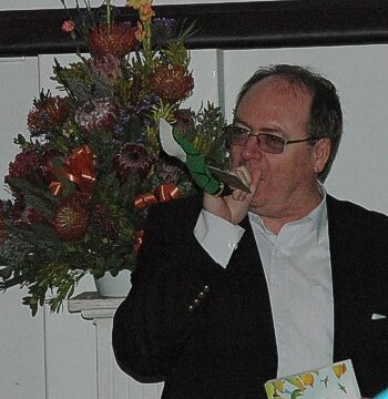 The Deputy Mayor Alderman Ian Neilson also trying to make a sound sept 2015 gavin lawson