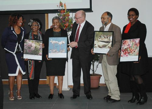 The handing over of the symbolic photos to the heads of the various depts who carried out the work sept 2015 gavin lawson
