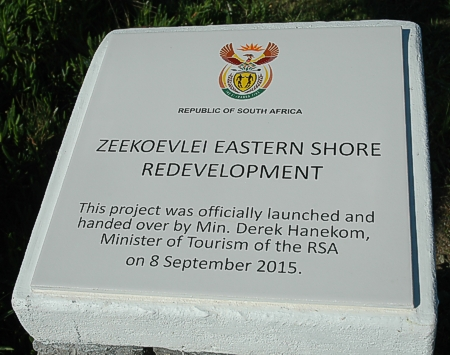 The plaque was unveiled earlier in the morning on the Eastern Shore sept 2015 gavin lawson