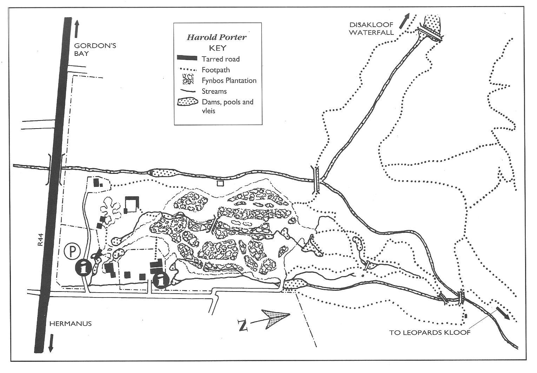 Harold Porter garden map