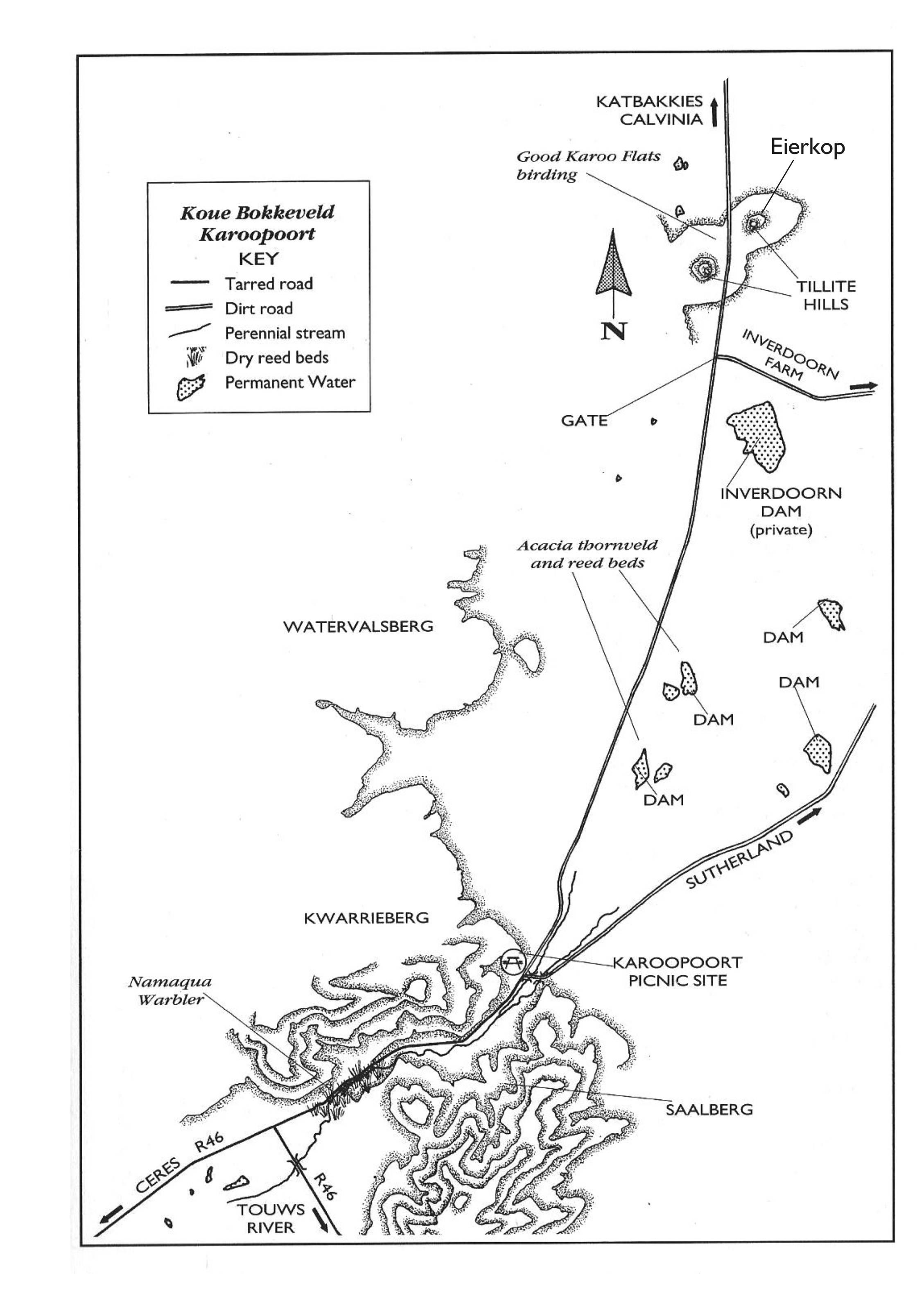 Karoopoort site map