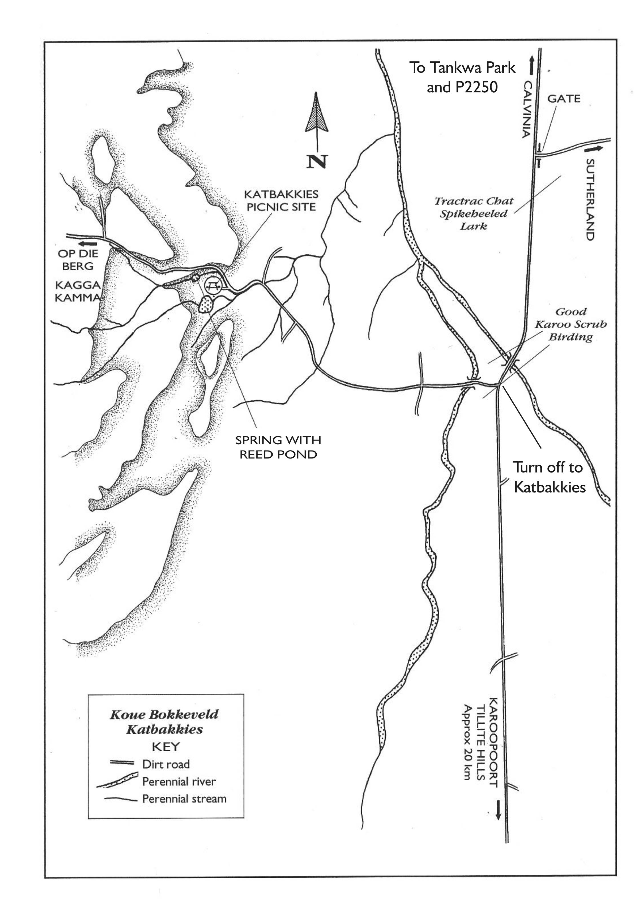 Katbakkies site map