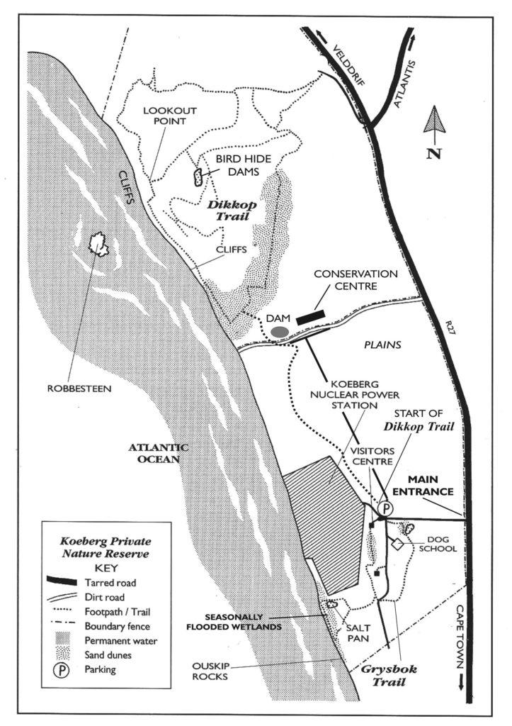 Koeberg Nature Reserve Site Map
