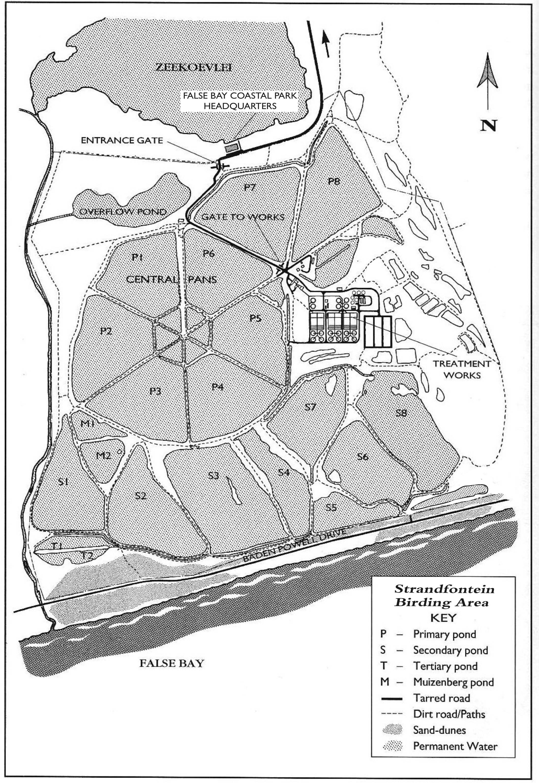 Strandfontein Birding Area Site Map