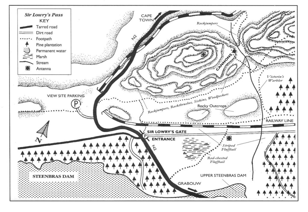 Sir Lowry's Pass Site Map