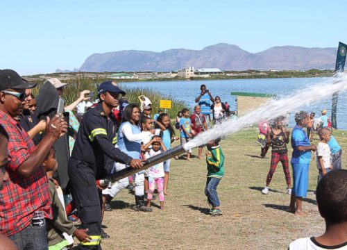 The part the children look forward too, the Fire Dept with the foam spray.