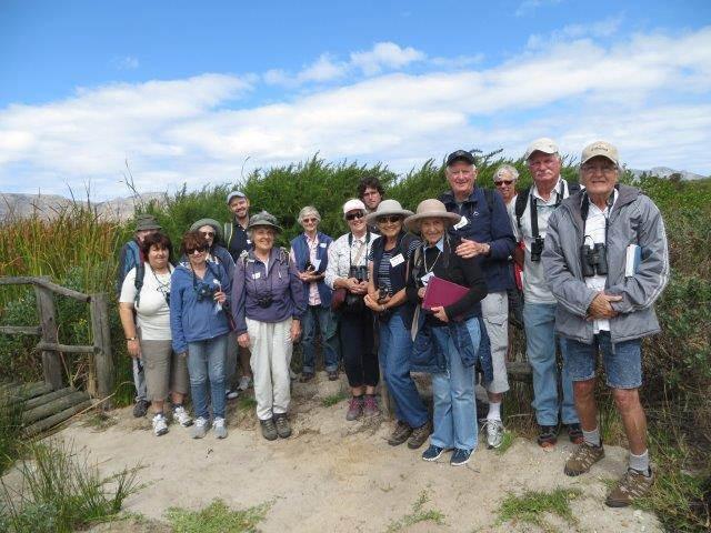 Birders at Rondevlei outing during February 2017. Photograph by Merle Charlton