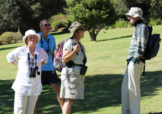 Discussing what we saw. Kirstenbosch photograph by Marlene Hofmeyer.