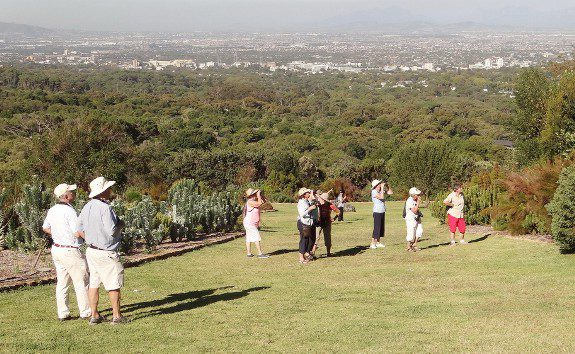 The view from part of the gardens looking east across the Cape Flats. Kirstenbosch. Photograph by Otto Schmidt