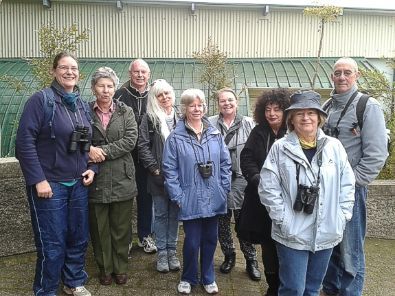 Our group today, gathered near the green houses.