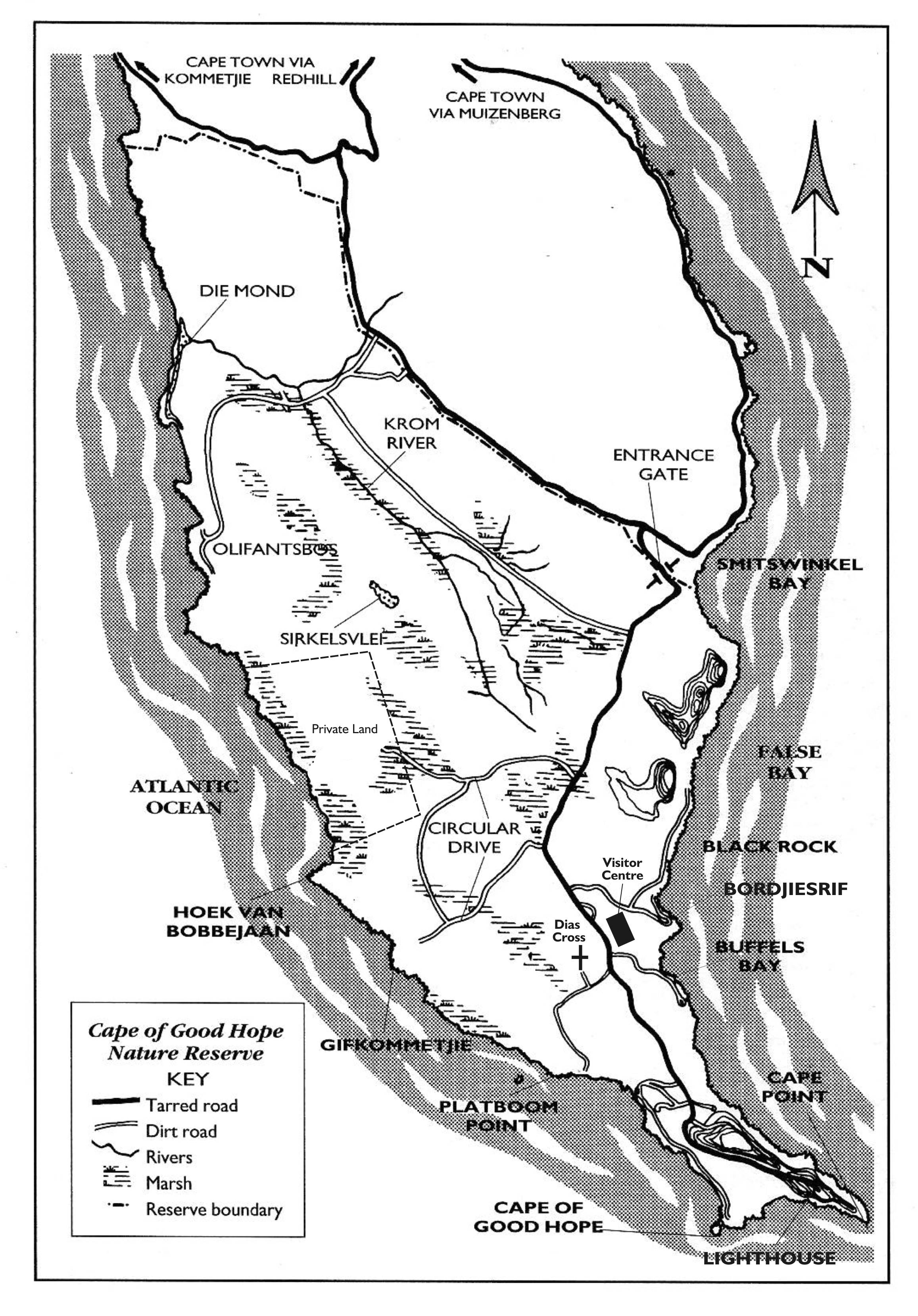 Cape Point map