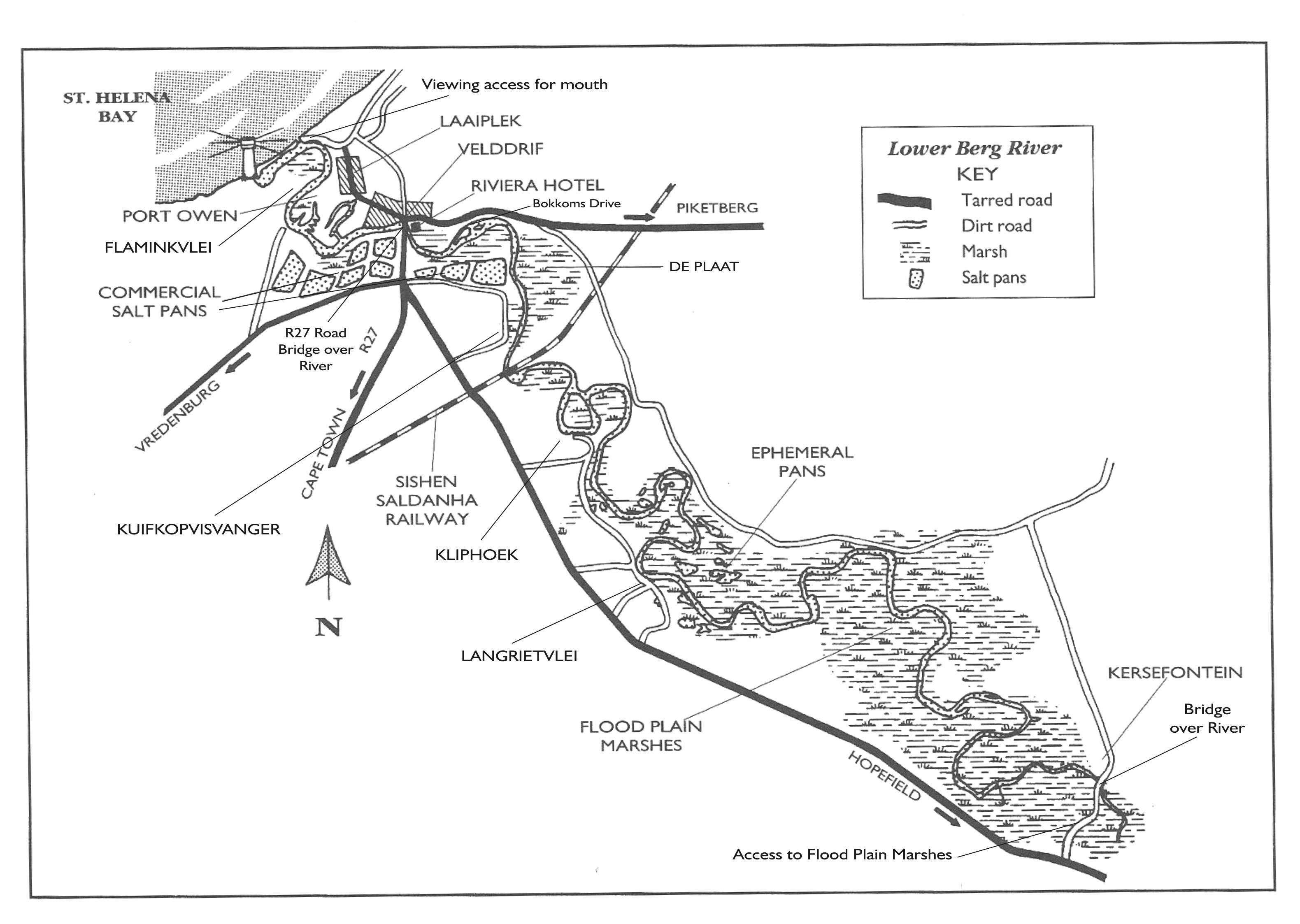 Berg River Site Map