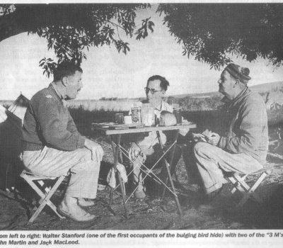 cbc walter stanford john martin and jack macLeod at swartklip in 1947