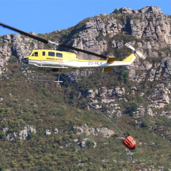 Helicopter at Kirstenbosch. Photograph by Graham Pringle