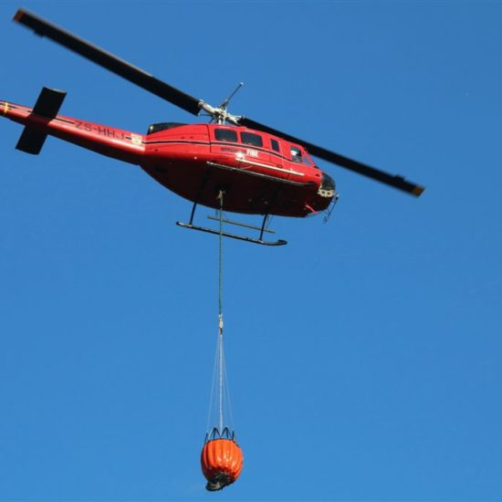 Fire helicopter at Kirstenbosch. Photograph by Graham Pringle