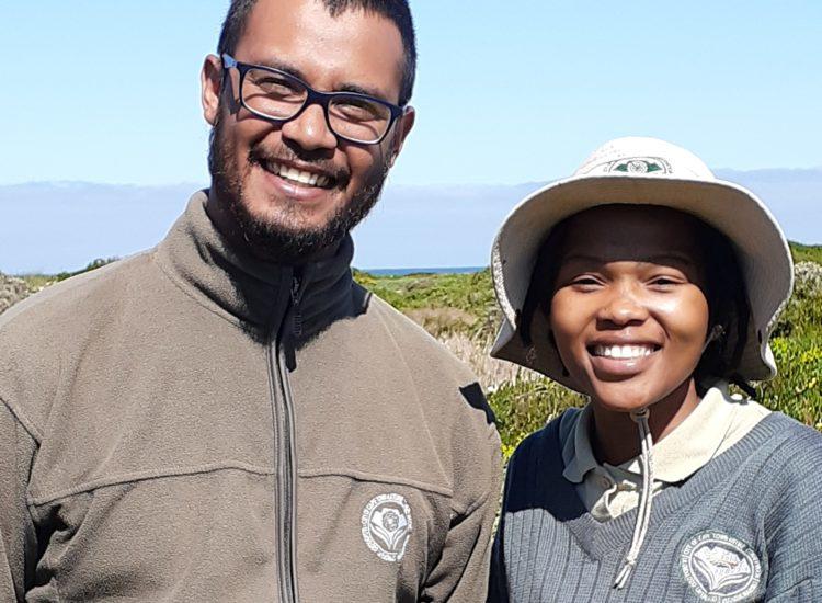 Shihabuddeen-Khan (Conservation Officer)-and-Kholiseka-Mabuya (CPUT Conservation Intern)